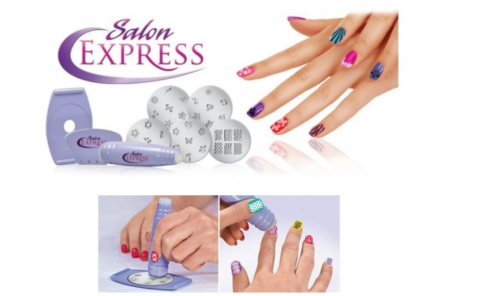 Tsawq Personal Care New Salon Express Nail Art Stamping Kit